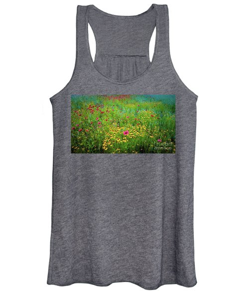 Mixed Wildflowers In Bloom Women's Tank Top