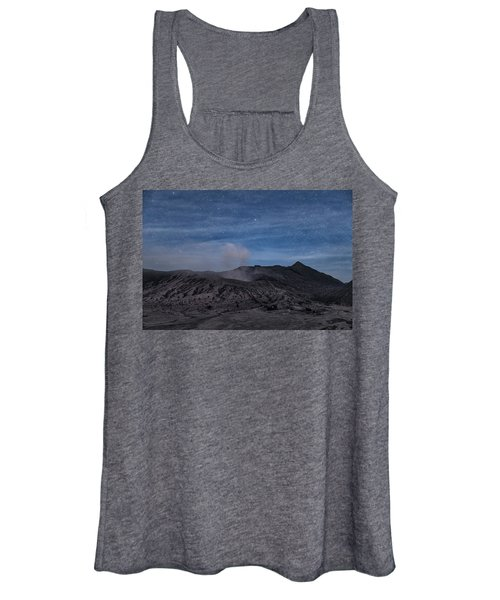 Mount Bromo With Stars - Java Women's Tank Top