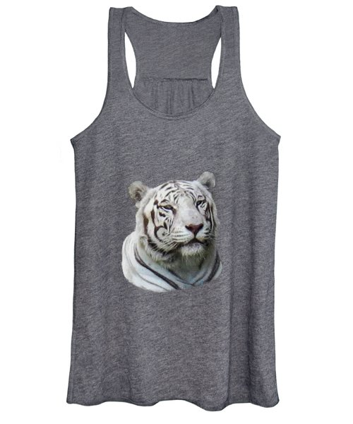 Namaste White Tiger Women's Tank Top
