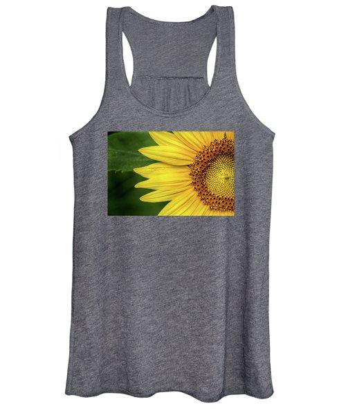 Partial Sunflower Women's Tank Top
