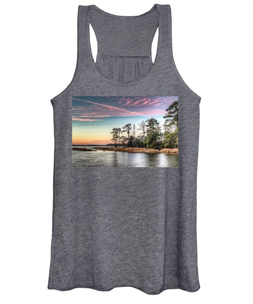 Women's Tank Top featuring the photograph Pink Sky At Night by Pete Federico