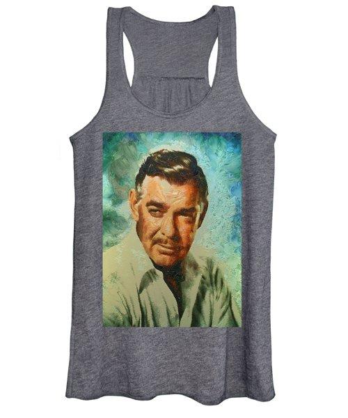 Portrait Of Clark Gable Women's Tank Top
