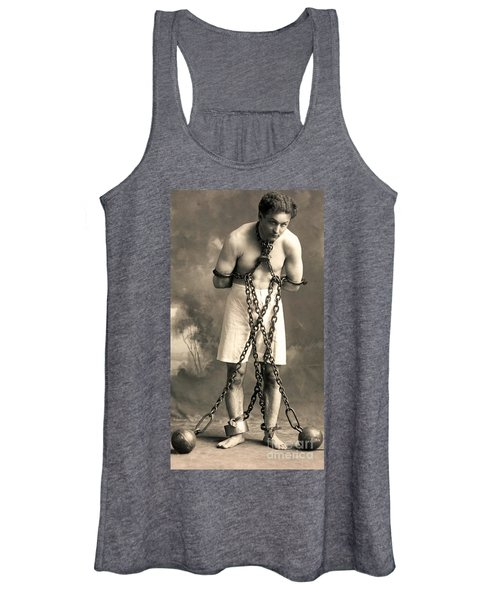 Portrait Of Harry Houdini In Chains. Circa 1900  Women's Tank Top