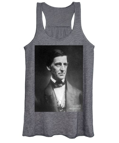 Ralph Waldo Emerson, American Author Women's Tank Top
