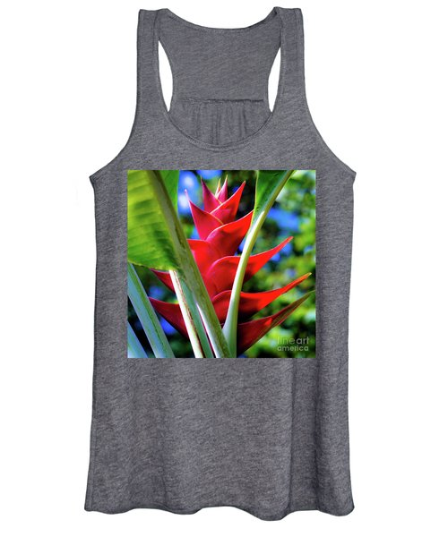 Red Heliconia Hawaii Women's Tank Top