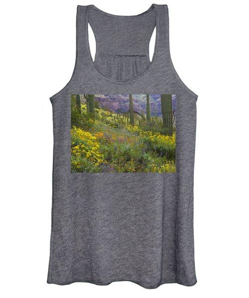 Saguaro Amid Flowering Lupine Women's Tank Top
