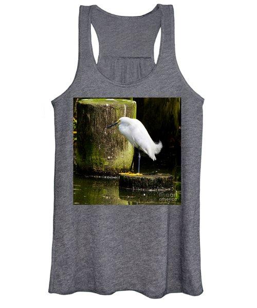 Snowy Egret Women's Tank Top