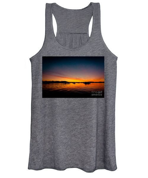 Sunrise Above Lake Water Summer Time Women's Tank Top