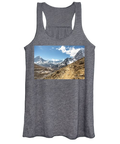 The Path To Cho La Pass In Nepal Women's Tank Top