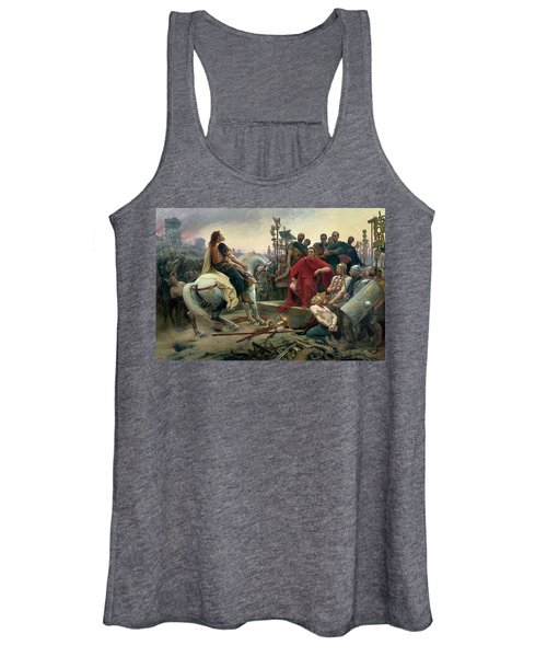 Vercingetorix Throws Down His Arms At The Feet Of Julius Caesar Women's Tank Top