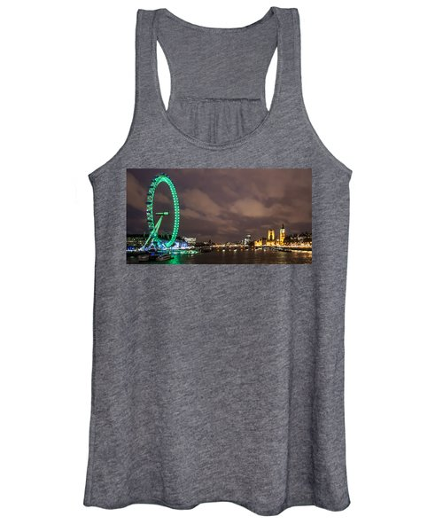 Westminster And The London Eye Women's Tank Top