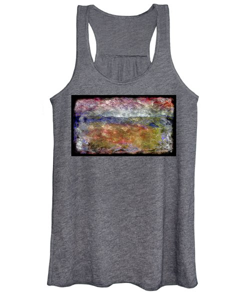 10c Abstract Expressionism Digital Painting Women's Tank Top