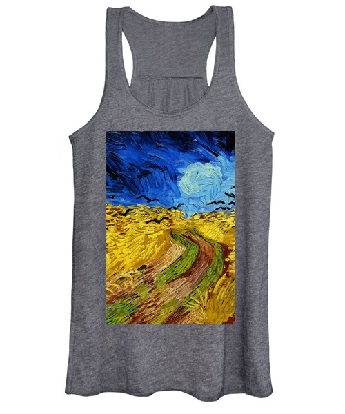 Wheatfield With Crows Women's Tank Top