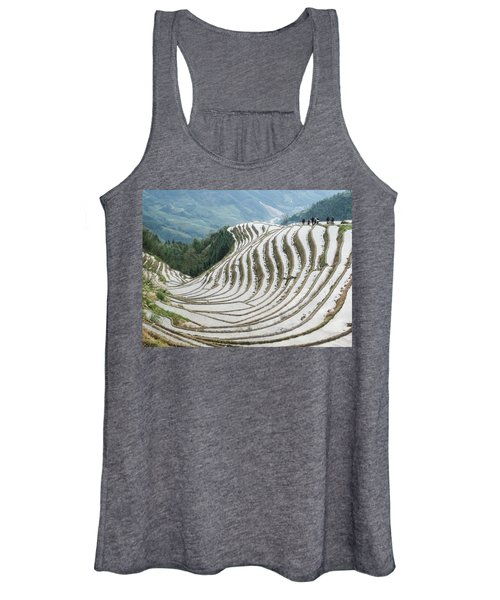 Terrace Fields Scenery In Spring Women's Tank Top