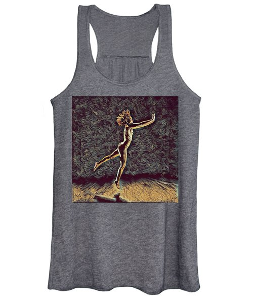 1302s-zak Naked Dancers Leap Nudes In The Style Of Antonio Bravo Women's Tank Top