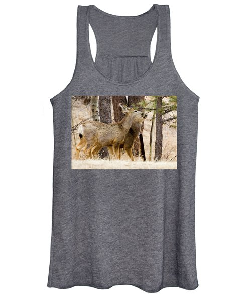Mule Deer In The Pike National Forest Of Colorado Women's Tank Top
