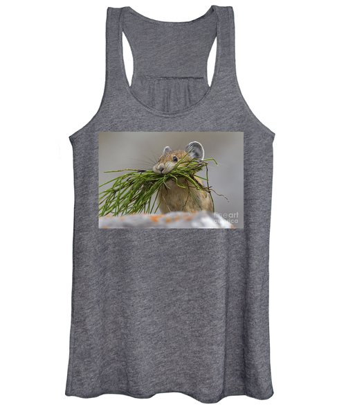 Pika With A Mouthful  Women's Tank Top
