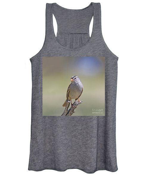 White-crowned Sparrow Women's Tank Top