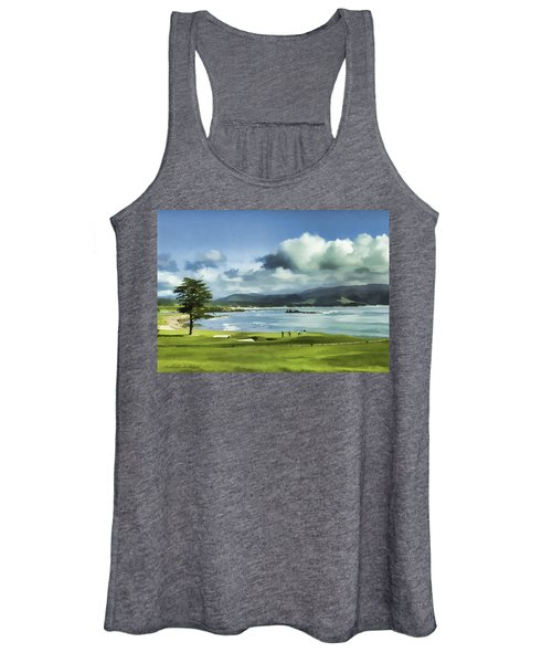 18th Hole Pebble Beach 2 Women's Tank Top