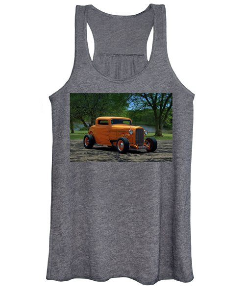 1932 Ford Coupe Hot Rod Women's Tank Top