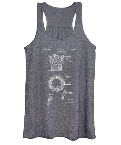 1951 Basketball Net Patent Artwork - Gray Women's Tank Top