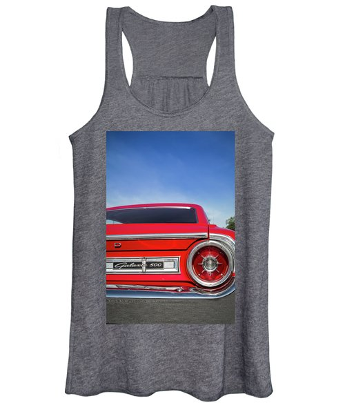 1964 Ford Galaxie 500 Taillight And Emblem Women's Tank Top