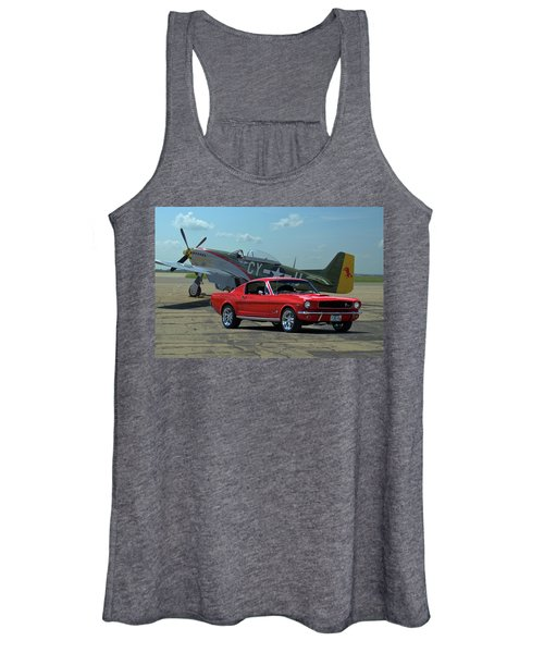 1965 Mustang Fastback And P51 Mustang Women's Tank Top