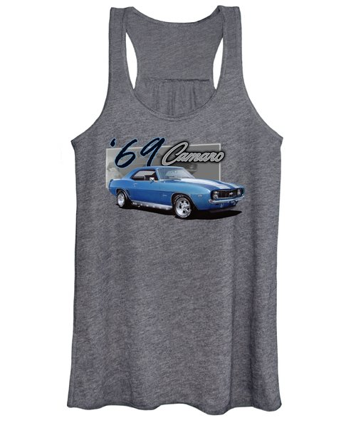 1969 Camaro With Side Pipes Women's Tank Top