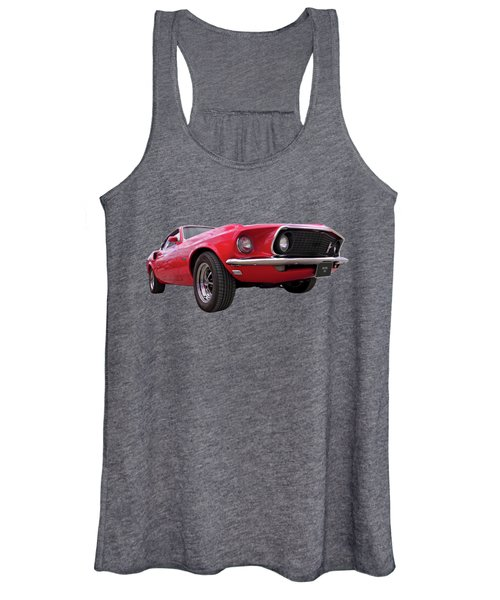 1969 Mustang At Sunset Women's Tank Top
