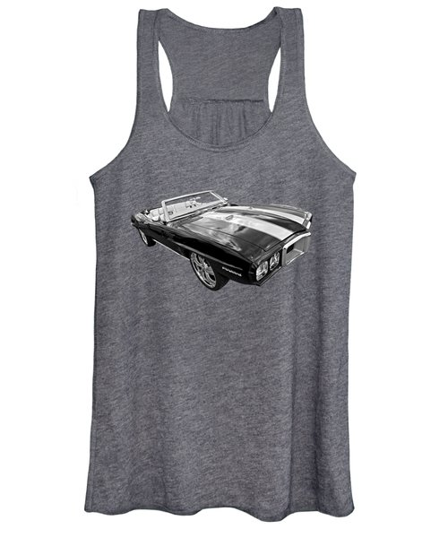 1969 Pontiac Firebird Convertible In Black And White Women's Tank Top