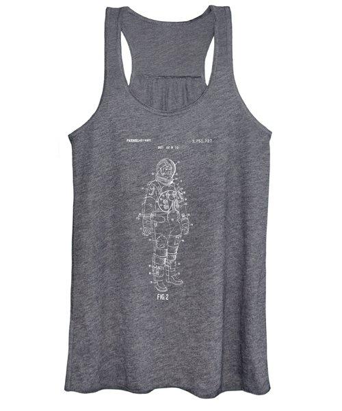 1973 Astronaut Space Suit Patent Artwork - Gray Women's Tank Top