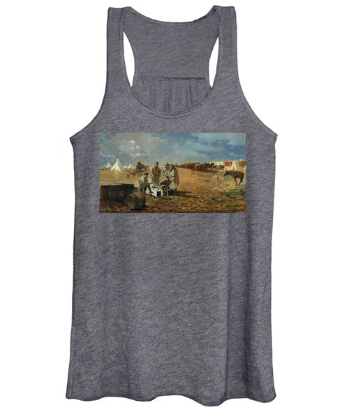 A Rainy Day In Camp Women's Tank Top