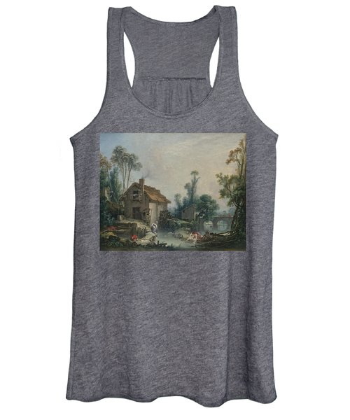 Landscape With A Watermill Women's Tank Top