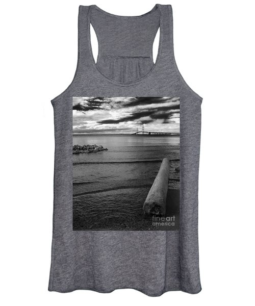 Mackinac Bridge - Infrared 01 Women's Tank Top