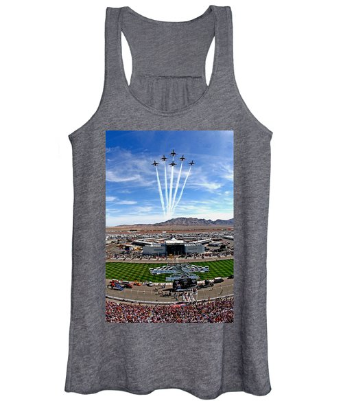 Usaf Thunderbirds Fly Over Women's Tank Top