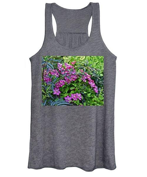 2015 Summer At The Garden Beautiful Clematis Women's Tank Top