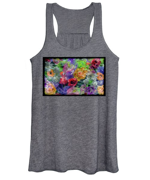 21a Abstract Floral Painting Digital Expressionism Women's Tank Top