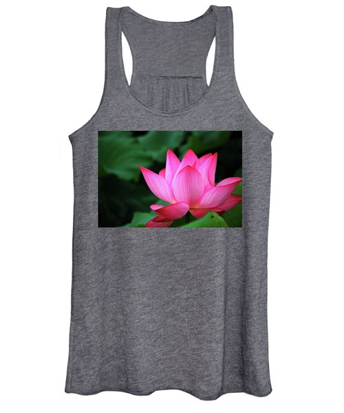 Blossoming Lotus Flower Closeup Women's Tank Top