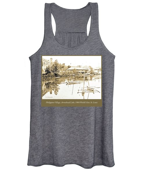 Arrow Head Lake, Philippine Village, 1904 Worlds Fair, Vintage P Women's Tank Top