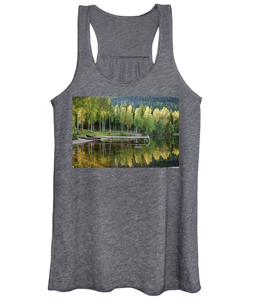Birches And Reflection Women's Tank Top