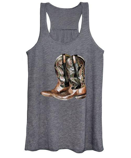 Cowboy Boots Women's Tank Top