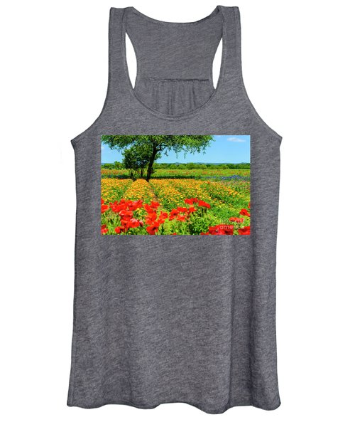Hill Country In Bloom Women's Tank Top