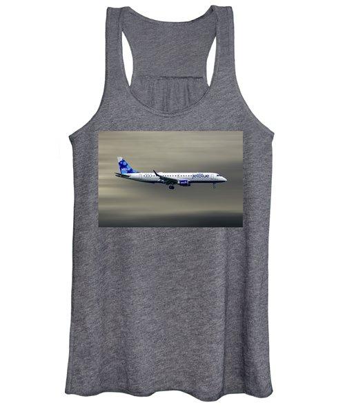 Jetblue Airways Embraer Erj-190ar Women's Tank Top