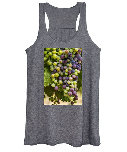 Red Wine Grapes Hanging On The Vine Women's Tank Top