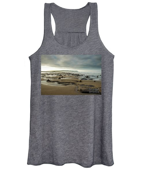 Bronze Age Sunken Forest At Borth On The West Wales Coast Uk Women's Tank Top
