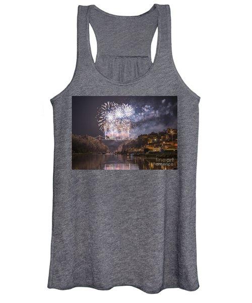 Clifton Suspension Bridge Fireworks Women's Tank Top