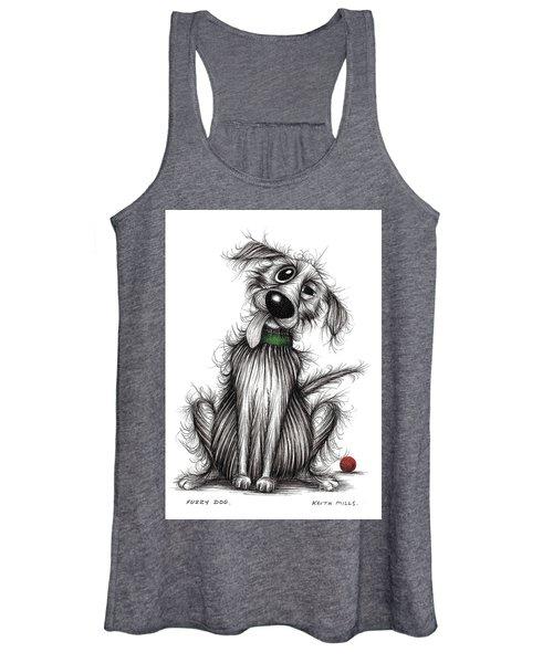 Fuzzy Dog Women's Tank Top