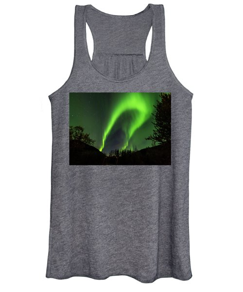 Northern Lights, Aurora Borealis At Kantishna Lodge In Denali National Park Women's Tank Top