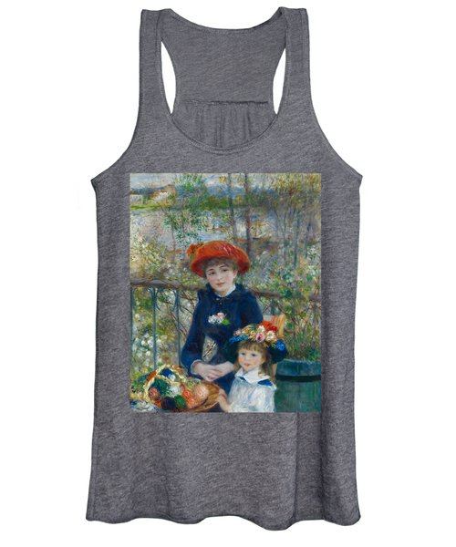 Two Sisters, On The Terrace Women's Tank Top