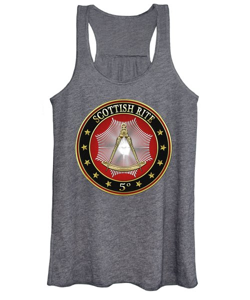 5th Degree - Perfect Master Jewel On Red Leather Women's Tank Top
